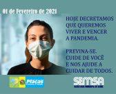 Campanha da SEMSA para Rede Social, usa Decreto Municipal para Sensibilizar a População